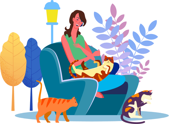 woman-with-cats